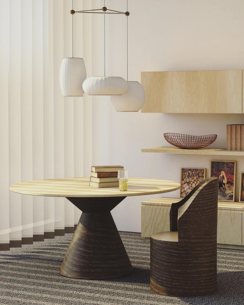 Imagen que contiene interior, pared, suelo , mesa ,silla